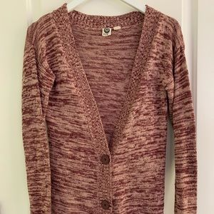 Marbled cardigan sweater